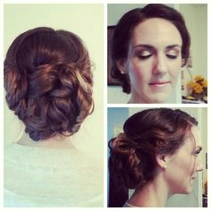 #updo and #makeup by @Kristin Foreman