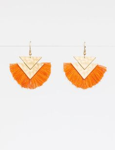 Beautiful statement earrings to bring life to any outfit. Beautiful sienna cotton with gold. Statement Earrings, Chevron, How To Apply, Cotton, Style, Swag