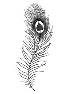 peacock feather in shape of heart tattoo designs