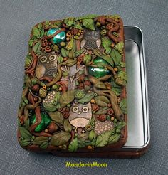 A Parliament of Owls Tin Trinket Box by MandarinMoon on deviantART