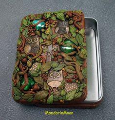 A Parliament of Owls Tin Trinket Box by MandarinMoon on DeviantArt