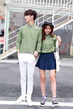 CC00914 Spring and autumn couple clothes Korean style shirt for men