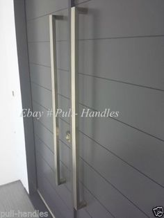 Entry Front Door Pull Square Handle stainless steel 36\