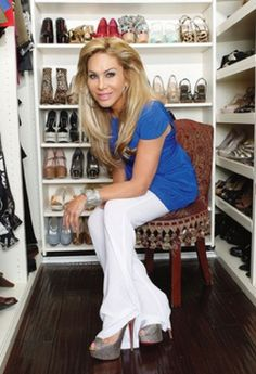 Adrienne Maloof's shoe habit has gone to the next level...she started her own shoe line!