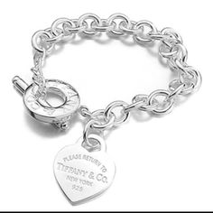 Tiffany and Co. Bracelet Simply gorgeous! I got this as a graduation present and I've only worn a handful of times. It deserves a better home! Sterling silver and perfect quality! Comes with the dust bag, box, bow, and merchandise bag! Tiffany & Co. Jewelry Bracelets