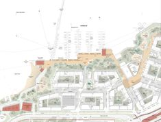 Architecturestudio NOAN Wins International Competition for Viinikanlahti Masterplan in Tampere Finland - 谷德设计网 Landscape And Urbanism, Landscape Design, Masterplan, Urban Analysis, Brick Architecture, Pedestrian Bridge, Water Treatment, Urban Planning, How To Level Ground