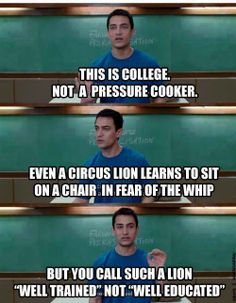 "3 Idiots ""best movie on why colleges should change"" >>""well-trained"" vs. ""well-educated"""