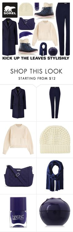 """""""contest: kick up the leaves stylishly with Sorel - 20161013"""" by catharine-polyvore ❤ liked on Polyvore featuring SOREL, MSGM, Marella, Philosophy di Lorenzo Serafini, Uniqlo, Vera Bradley, Love Quotes Scarves, Nails Inc., Tony Moly and Ellis Faas"""