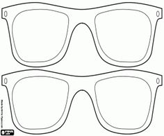 Two pairs of glasses for Carnival coloring page
