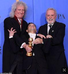 Golden Globes: Queen's Brian May and Roger Taylor beam with Rami Malek Queen Photos, Queen Pictures, Queen Brian May, Queen Movie, Roger Taylor, Ben Hardy, We Will Rock You, Queen Freddie Mercury, Queen Band
