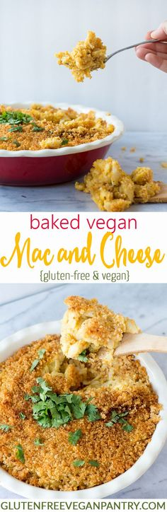 Baked Vegan Mac and Cheese - Gluten-free | glutenfreeveganpantry.com