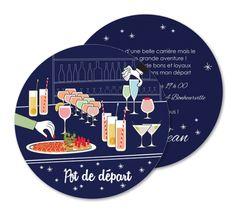 Carte Invitation Départ Retraite Cocktail Sixties Ro1 164