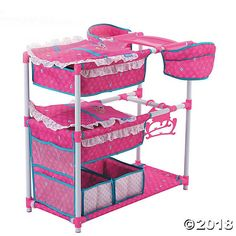 Birdie Doll Twin Play Center is the ultimate sleep, eat & play doll set! The Twin Play Center features built-in highchairs for two dolls, twin bunk beds, . Baby Doll Bed, Baby Doll Nursery, Twin Babies, Reborn Babies, Reborn Dolls, Toddler Toys, Baby Toys, Baby Doll Furniture, Baby Alive Dolls