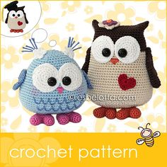 Ravelry: Mama and Baby Owl pattern by Barbara Strasser. Pin leads back to explanations and links to acquire the patterns. Love owls!