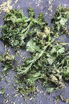 Kale chips with citrus salt