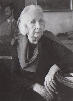 """Gabriele Münter in """"the Russian House,"""" Murnau, 1957"""