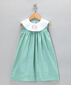 Teal Seersucker Monogram Dress - Infant, Toddler & Girls   Daily deals for moms, babies and kids