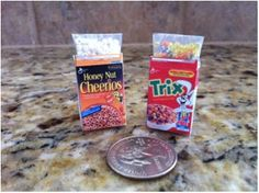 Miniature Cereal Box Designs