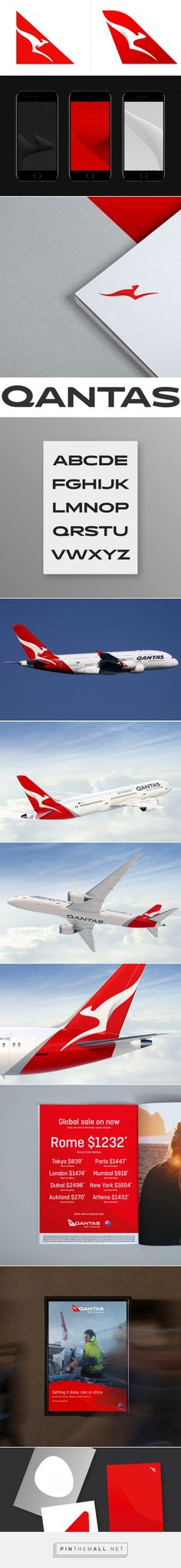 Brand New: New Logo, Identity, and Livery for Qantas by Houston Group - created via https://pinthemall.net