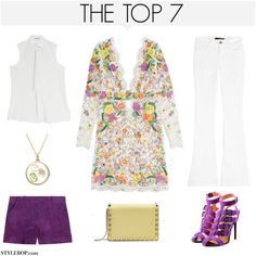 A fashion look from March 2015 featuring Emilio Pucci dresses, Jason Wu blouses and J Brand jeans. Browse and shop related looks.