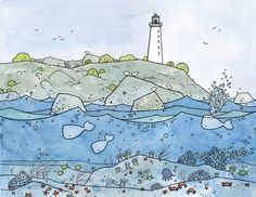 """Limited Edition Coral Reef Illustration Print by studiotuesday, $60.00 11"""" x 14"""" (so cute for the nursery!)"""