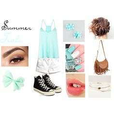 Summer Teals!! Created by me on polyvore.com