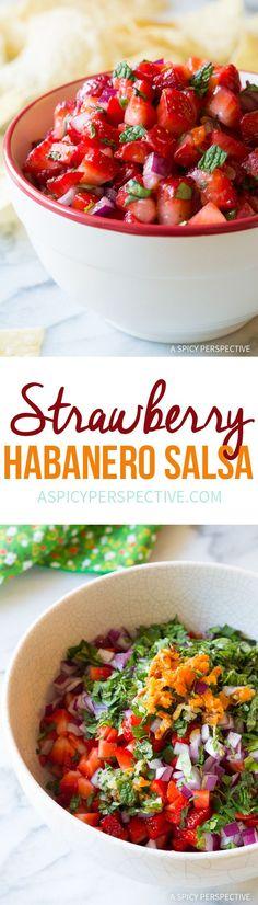 Sweet and Smoky Strawberry Habanero Salsa Recipe