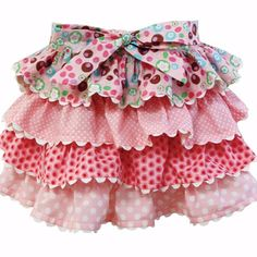 No pattern for this tiered skirt ~ just inspiration to make one for Emmy cause I love it!