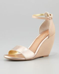 M by Marinelli Bell Gold Wedge Sandal | DSW $49.95 | It's on like ...