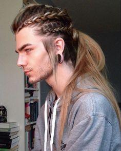 Hairstyles men, viking hairstyles, hair and beard styles, hair styles, mens braids Trendy Hairstyles, Straight Hairstyles, Braided Hairstyles, Viking Hairstyles, Side Hairstyles, American Hairstyles, School Hairstyles, Medium Hairstyles, Wedding Hairstyles