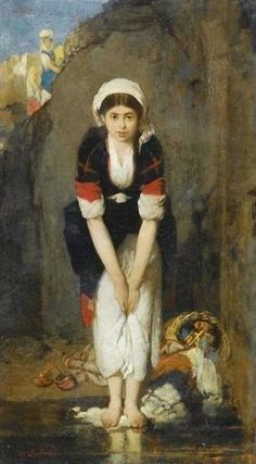 Nikiforos Lytras, Greek painter - Young girl by the river Greek Paintings, Classic Paintings, Human Anatomy Drawing, Art Assignments, Great Works Of Art, Pre Raphaelite, Greek Art, Chiaroscuro, Artist Painting