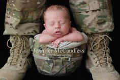 Jennifer McCandless Photography: Newborn Photography Military Helmet Pose Daddys Feet