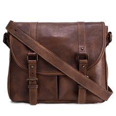 Handmade Leather Messenger / Satchel Bag.