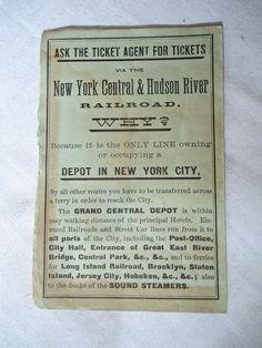 WHY? // 1883 Railroad Time Table Catskill Mountain Saratoga New York Central Lake George | eBay