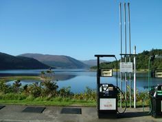 The most picturesque petrol station in the UK? Strontian looking up Loch Sunart