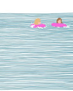 Fun with floaties at Weekapaug Beach - Jorey Hurley