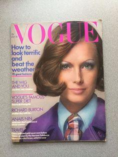 vintage Vogue Magazine October 15 1971 David Bailey fashion mag