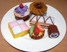 Felt cakes plate of cakes
