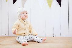 Wool sweater for children merino wool / Yellow hand by GeraBloga
