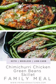 I cannot express with words how much my family and I loved this Chimichurri Chicken Green Beans Skillet. It's far from boring and this sauce is just heaven. Great dish for weeknight dinners! Best Paleo Recipes, Whole30 Recipes, Low Carb Recipes, Chimichurri Chicken, Chicken Green Beans, Keto Meal Plan, Recipes For Beginners, Weeknight Dinners, Skillet