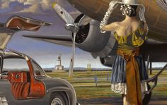 Peregrine Heathcote-'Una infinidad de caminos'- Oleo sobre lienzo. -Detalle