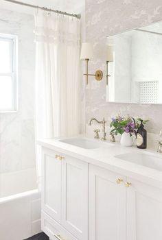 small master bathroom remodel full reveal, vintage inspired white bathroom, light and airy, bathroom remodel budget breakdown, bathroom interior design White Bathroom, Small Bathroom, Master Bathroom, Bathroom Ideas, Bathroom Designs, Bathroom Mirrors, Bathroom Storage, Colorful Bathroom, Bathroom Showers