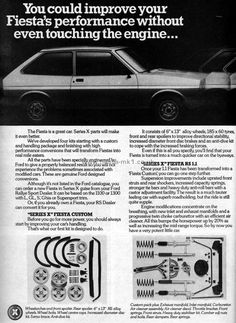 Ford Fiesta Mk1, Press Release, Metal Working, Improve Yourself, Classic Cars, Wheels, Advertising, Europe, Vintage