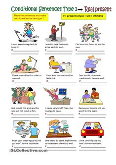 Read the sentences and make conditional sentences type Hope you like it and have a nice day ! English Teaching Materials, English Teaching Resources, English Worksheets For Kids, English Lessons For Kids, English Fun, English Activities, English Study, Learn English, Class Activities