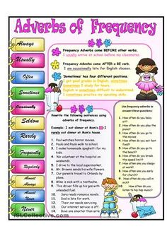 Students complete  four tasks involving adverbs of frequency. - ESL worksheets