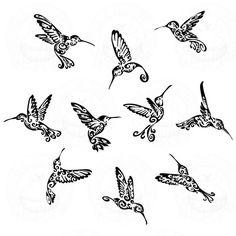 Tribal Hummingbird Designs Tribal humming