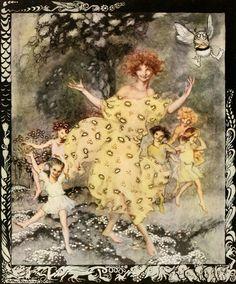 """Dance of Spring"" Snickerty Nick Illustrated by Arthur Rackham (1919) http://www.pookpress.co.uk/project/arthur-rackham-biography/"