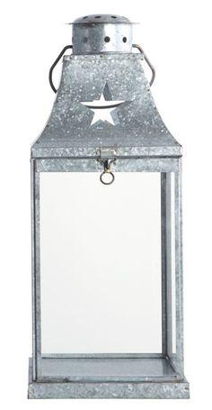 Lanterne i zink, H.40cm
