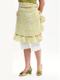 Free retro apron pattern #sewing