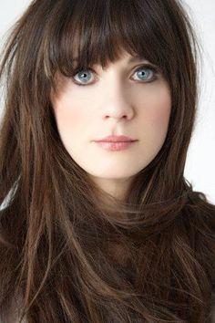 zooey deschanel - beautiful brunette hair and blue eyes Hari's Salon, Chelsea, Hair Salon Chelsea, Brunette Hair, Long Hair, Autumn Hair